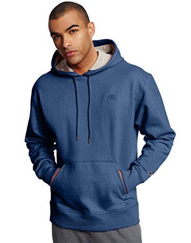 Champion Men's Powerblend® Fleece Pullover Hoodie: Seabottom Blue, 2XL