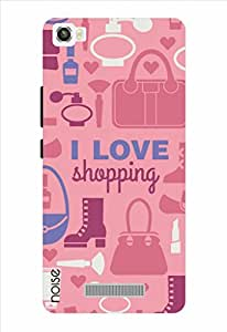 Noise I Love Shopping - Pink Printed Cover for Lava X8