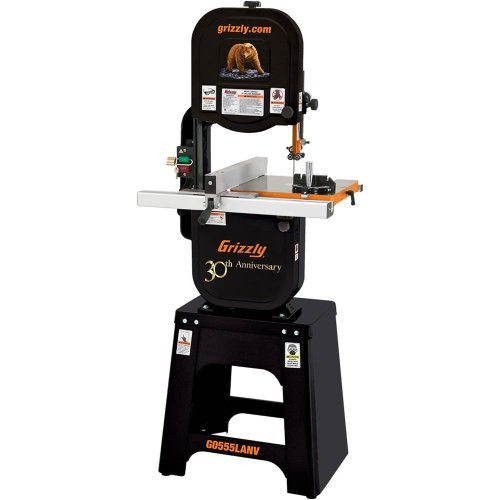 Grizzly G0555LANV 14-Inch Deluxe Bandsaw, Anniversary Edition image