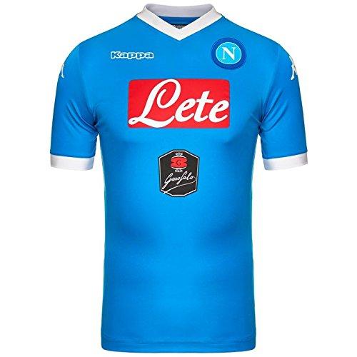 Kappa 302Gg50 Maglia Calcio Napoli Uomo, Colore: Azzurro, Taglia: 3XL