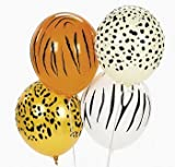 Jungle Animal Print Safari Balloons (50PC)