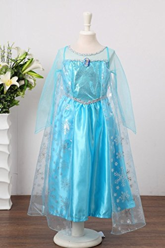 Santana Fashion Girls Snow Queen Costume Snow Princess Dresses - F2-Elsa