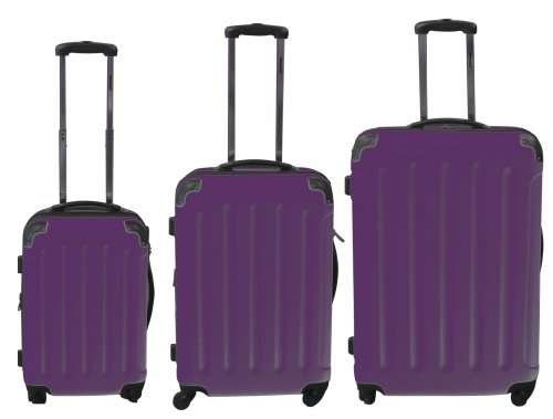 Polycarbonat Kofferset 3tlg mit ABS lila