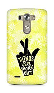 AMEZ things will work out Back Cover For LG G3