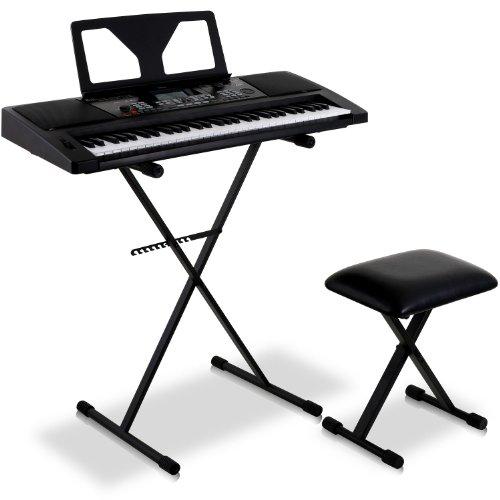 "Schubert ""Little Beethoven"" Set Tastiera pianola musicale supporto e panchetta sgabello"