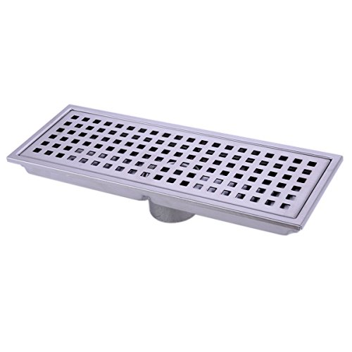 HANEBATH Linear Shower Floor Drain with Removal Cover - Made of Sus304 Stainless Steel , 12 Inch Long - Brushed Stainless (Low Profile Pipe Wrench compare prices)