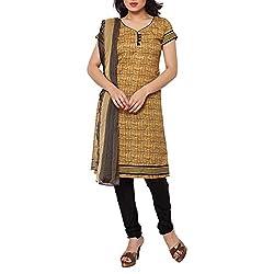 Applecreation dress materials for women Beige embroidery Salwar kameez Dress Material