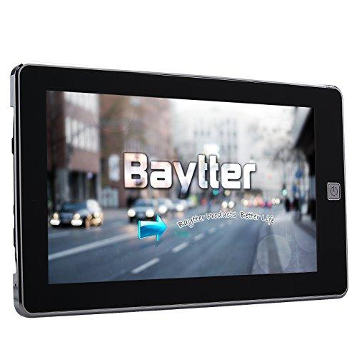 """Baytter 7 Zoll GPS Navigationsgerät Navi Navigation mit 45 europäischen Ländern, Bluetooth, AV IN (wählbar) (7"""" Navigationsgerät)"""