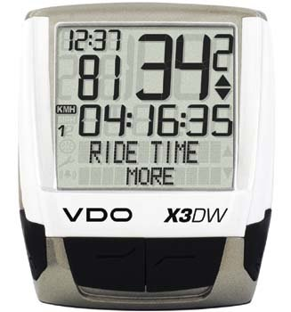 VDO X3DW Fahrrad-Computer 36 Funktionen