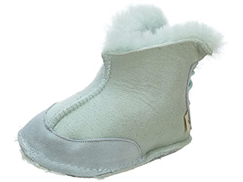 Bearpaw Mulberry Double Face Bootie (Infant),Light Blue,Large (12-18 M Us Toddler)