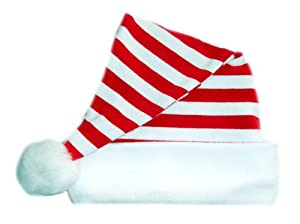 Red and White Striped Santa Baby Hat (6-12 Months)