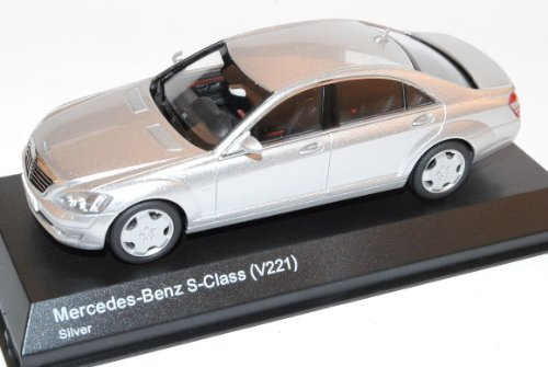 Mercedes-Benz S-Klasse S600L W221 2005-2013 Limousine Silber 1/43 Kyosho Modell Auto