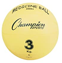 Champion Sports Rubber Medicine Ball (3 kg, 6.6-Pounds)