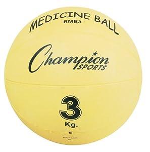 Champion Sports Rubber Medicine Ball (3 kg, 6.6-Pounds) by Champion Sports