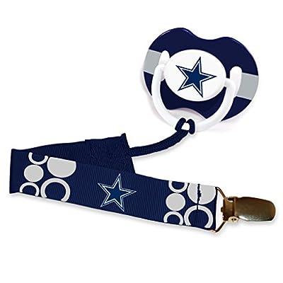 Baby Fanatic Pacifier with Clip, Dallas Cowboys