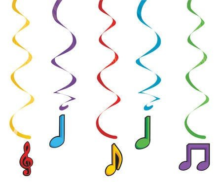 Dancing Music Notes Dizzy Danglers Hanging Decoration