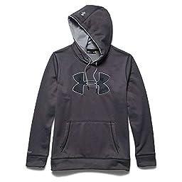 Men\'s Under Armour Storm Armour Fleece Big Logo Hoodie, Carbon Heather (090), XX-Large