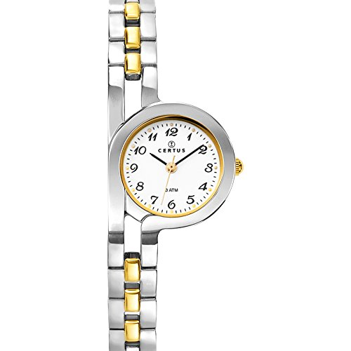 Certus 634454 - Ladies Watch - Analogue Quartz - White Dial - Two-Tone Metal Bracelet