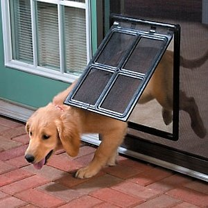 Pet Door From Top Pet Choice Ideal For Doors, Sliding Doors and Even Windows That Have A Screen. Your Dog Or Cat Will Love The Easy Access To Go Outside And Inside. (Sliding Door Cat Door compare prices)
