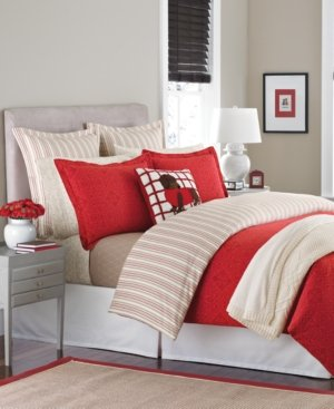 Flannel Comforter Cover Full/Queen - Gallery Tile Red By Martha Stewart Collection front-956267