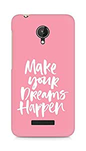 AMEZ make your dreams happen Back Cover For Micromax Canvas Spark Q380
