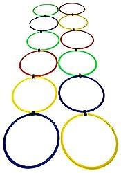 SAHNI SPORTS Plastic Agility Ring Ladder, Set of 12, Multi-Color