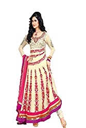 Ambika beige colored Anarkali suit