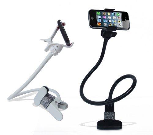 グラビアアイドル自画撮り 各種スマホ Iphone対応 くねくねクリップ式 フレキシブル アーム スタンド 360度回転自由自在 /ブラック
