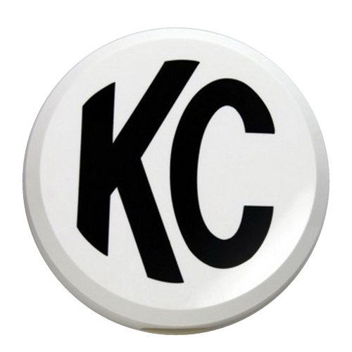 Kc Hilites #5106 Light Cover - 6 - Round White W/ Black Kc Hard (Ea)