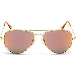 Randolph Concorde Sunglasses 23K Gold / Skull / Orange Flash PC 57mm