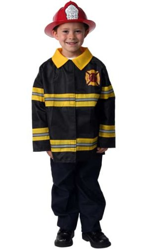 Fireman Fire Fighter Halloween Dressup Costume w Hat, Size 6/8