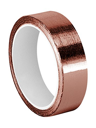 TapeCase Copper Foil Tape with Acrylic Adhesive, Converted from 3M 1125, 6 yd Length, 0.75 Width, Roll