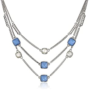 """Kenneth Cole New York Faceted Bead and Crystal Multi-Row Necklace, 19"""""""