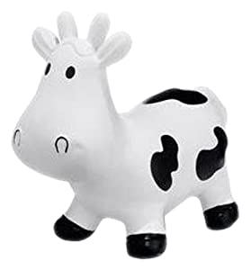 Trumpette Howdy Bouncy Rubber Cow, White