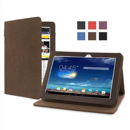 """Cover-Up Version Stand"""" Kakao Braune Natürliche Hülle aus Hanf mit Mehrfachansicht für Asus MeMO Pad 10 (ME102A) (10.1-zoll) Tablet"""