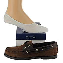 Sperry Men\'s Authentic Original Shoe with FREE No Show Socks Bundle Buck/Brow...