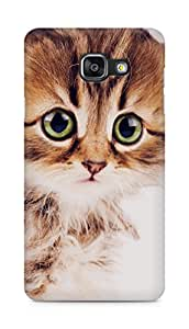Amez designer printed 3d premium high quality back case cover for Samsung Galaxy A5 (2016 EDITION) (Sad kitten cat animal nature cute)