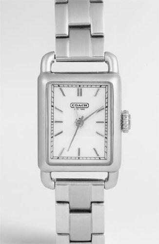 Coach Hamptons Elongated Bracelet Women's Watch Stainless Steel Silver