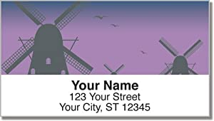 Dutch Windmills Address Labels