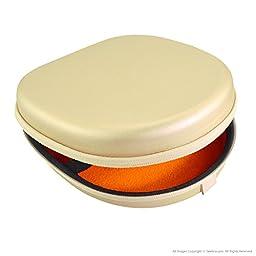 Geekria® UltraShell Headphones Case for Bose QuietComfort QC3, QC25, QC2, QC15, AE2w, AE2i, AE2 / Headphone Hard Carrying Case / Travel Bag (Pearl Gold)