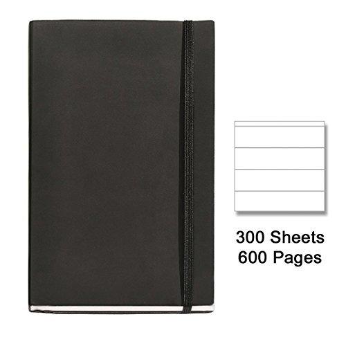 basicos-mr-10404-flexible-piel-cuaderno-4-300-hojas-horizontal-con-goma-color-negro