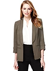 Shawl Collar Soft Touch Tailored Jacket