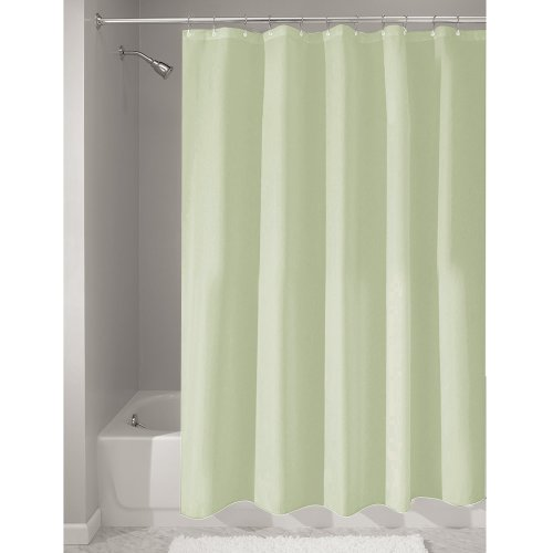 InterDesign Mildew-Free Water-Repellent Fabric Shower Curtain, 72-Inch by 72-Inch, Celery Green (Shower Liner Green compare prices)