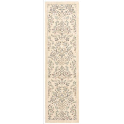 Barclay Butera HIN03 BBL5 Hinsdale Rectangle Machine Made Rug, 2.3 by 8-Inch, Cottonwood