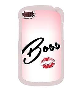 Boss Lips 2D Hard Polycarbonate Designer Back Case Cover for BlackBerry Q10