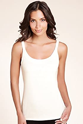Scoop Neck Satin Trim Vest