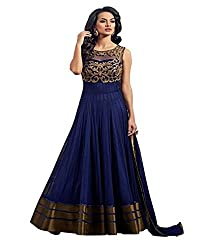 1 Stop Fashion Blue Colored Five Star Net Anarkali-EBSFSK291020