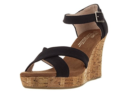 2bea93102da Toms Women s Strappy Wedges Black Casual Shoe 7.5 Women US - Import ...