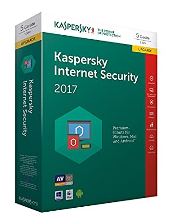 Kaspersky Internet Security 2017 5 Lizenzen Upgrade (Code in a Box)