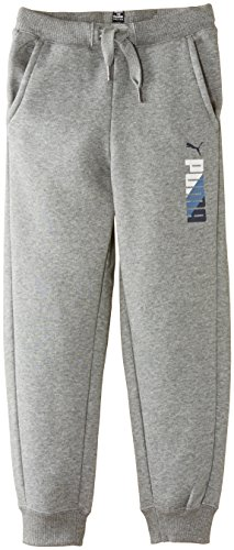 Puma ragazzo Fun TD Graphic Sweat Pants, polsino chiuso, in pile pantaloni, Ragazzi, Fun TD Graphic Fleece, Medium Gray Heather, 28""